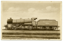 ADVERTISING : SOUTHERN RAILWAY MIXED TRAFFIC LOCOMOTIVE / BOOK PUBLISHING - THE LEAD STORAGE BATTERY (BROWN) - Advertising
