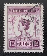 WILHELMINE 1929/32 - OBLITERE - YT 155 - DENTELE 12 - 1/2 - Niederländisch-Indien