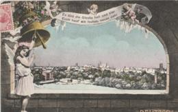 ALLEMAGNE (Saxe) - DELITZSCH - Neues Jahr - Glocke - Bonne Année - Cloche - Anges - Colombe - Delitzsch