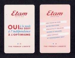 2 Carte Cadeau.   ETAM.    Gift Card. - Cartes Cadeaux