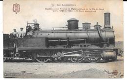CHEMINS DE FER - LOCOMOTIVES - Machine Pour Train De Marchandises De La Cie Du Nord - Série 4836-4950 - Trains