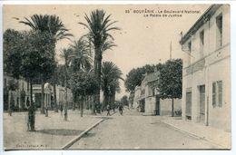 Algérie - BOUFARIK ( Boufarick ) Le Boulevard National Le Palais De Justice - Ecrite En 1929 - Algérie