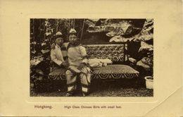 China, HONG KONG, High Class Chinese Girls Bound Feet (1910s) Postcard - China (Hong Kong)