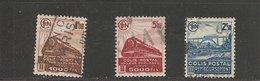 Colis Postaux  N°  : 187B - 188B - 189B    ( Cat. 1 - 1 )    23-06-19 - Parcel Post