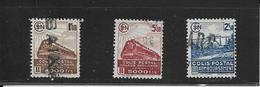 Colis Postaux  N° : 187B - 188b - 189B     ( Cat. 1 - 4 )   23-06-19 - Paketmarken