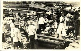 China, PEKING, HONG KONG, SHANGHAI (?), Unloading Ship (1920s) RPPC Postcard - China (Hong Kong)