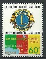 "Cameroun Aerien YT 293 (PA) "" Lions Club "" 1979 Neuf** - Kameroen (1960-...)"