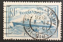 FRANCE - YT N° 300 - Canceled  - Cote: 20 € Paquebot Normandie Bleu Clair - Used Stamps