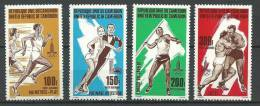 "Cameroun Aerien YT 301 à 304 (PA) "" JO Lake Placid - Moscou "" 1980 Neuf** - Kameroen (1960-...)"