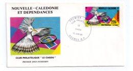 Premier Jour - Club Philatélique Le Cagou -Nouméa -1985- Voir état - New Caledonia