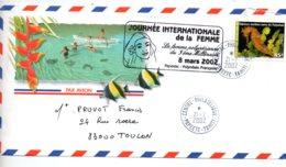 Polynésie Française -affranchissement Sur Enveloppe -Papeete-2002- Voir état - Marcophilie (Lettres)