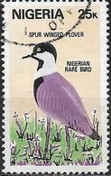 NIGERIA 1984 Rare Birds - 25k - Spur-winged Plover FU - Nigeria (1961-...)