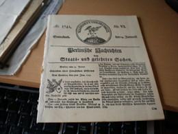 Berlinische Nachrichten Staats Und Gelehrten Sachen - Bücher, Zeitschriften, Comics