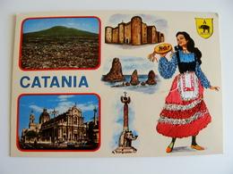 CATANIA    ED.  TORNATORE MESSINA   SICILIA  COSTUME REGIONALE  BRODEE POSTAL  SIGNED  BORDADA    RICAMATA IN TESSUTO - Ricamate