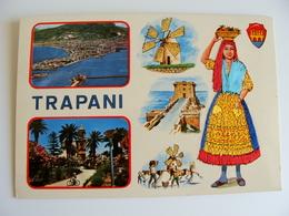 TRAPANI   ED.  TORNATORE MESSINA   SICILIA  COSTUME REGIONALE  BRODEE POSTAL  SIGNED  BORDADA    RICAMATA IN TESSUTO - Ricamate