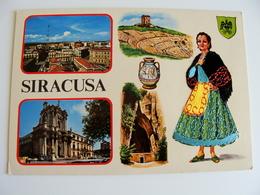 SIRACUSA  ED.  TORNATORE MESSINA   SICILIA  COSTUME REGIONALE  BRODEE POSTAL  SIGNED  BORDADA    RICAMATA IN TESSUTO - Ricamate
