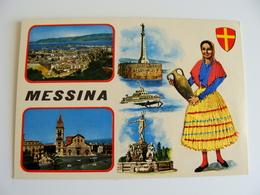 MESSINA  ED.  TORNATORE MESSINA   SICILIA  COSTUME REGIONALE  BRODEE POSTAL  SIGNED  BORDADA    RICAMATA IN TESSUTO - Ricamate