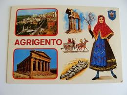 AGRIGENTO  ED.  TORNATORE MESSINA   SICILIA  COSTUME REGIONALE  BRODEE POSTAL   BORDADA    RICAMATA IN TESSUTO - Ricamate