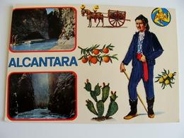 ALCANTARA   ED.  TORNATORE MESSINA   SICILIA  COSTUME REGIONALE  BRODEE POSTAL   BORDADA    RICAMATA IN TESSUTO - Ricamate