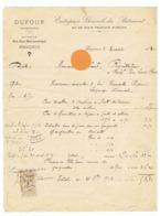 PERIGUEUX , Facture De L'Entreprise Générale En Bâtiment DUFOUR En 1913 (fr79) - France