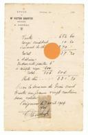 AGONAC, Facture De Me Victor COURTEY, Notaire En 1909 (fr79) - France