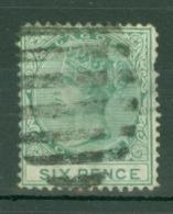 Nigeria - Lagos: 1876/79   QV    SG15    6d   Green  [Perf: 14]   Used - Nigeria (...-1960)