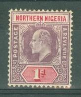 Northern Nigeria: 1905/07   Edward    SG21a    1d   [Chalk]    MH - Nigeria (...-1960)