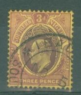 Southern Nigeria: 1904/09   Edward    SG25    3d  Orange-brown & Bright Purple  Used - Nigeria (...-1960)