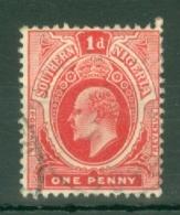 Southern Nigeria: 1907/11   Edward    SG34ab    1d   Carmine-red [Head Die A, Die II] Used - Nigeria (...-1960)