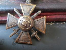 Croix De Guerre 1939 1940 - Frankrijk