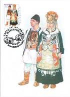 33210. Tarjeta Maxima SKOPIE (Macedonia) 2001. Traje Tipico Macedonio - Macedonia