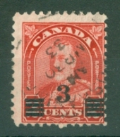 Canada: 1932   KGV - Surcharge   SG314a   3c On 2c   [Die II]     Used - Gebruikt