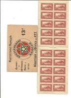 MARRUECOS Protectorado Frances Carnet  Completo 20 Sellos  Nuevos Sin Fijasellos (según Foto) - Marruecos (1956-...)