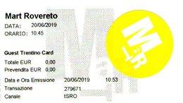 B 2571 - Biglietto D'ingresso, MART Rovereto - Biglietti D'ingresso