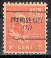 USA Precancel Vorausentwertung Preo, Locals Iowa, Promise City 704 - Vereinigte Staaten