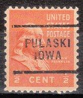 USA Precancel Vorausentwertung Preo, Locals Iowa, Pulaski 703 - Vereinigte Staaten