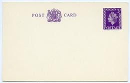 QUEEN ELIZABETH II : PRE-PRINTED POSTAL STATIONERY : POST CARD 3d - 1952-.... (Elizabeth II)