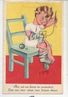 """Petit Garçon Recoud Ses Chaussettes:"""" Pour Ceci, Une Femme Me Conviendrait"""" - Humour"""