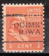 USA Precancel Vorausentwertung Preo, Locals Iowa, Quimby 701 - Vereinigte Staaten