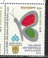 BANGLADESH , 2018, MNH, ART, 18th ASIAN ART BIENNALE, BUTTERFLIES, 1v - Art