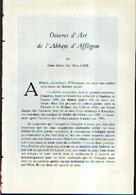 «Œuvres D'art De L'abbaye D'AFFLIGEM» -  Article De 23 Pages Dont 8 Illustrations « Pleine Page » (1964) - Cultura