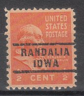 USA Precancel Vorausentwertung Preo, Locals Iowa, Randalia 743 - Vereinigte Staaten