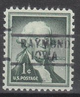 USA Precancel Vorausentwertung Preo, Locals Iowa, Raymond 729 - Vereinigte Staaten