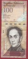 Venezuela 100 Bolivares Du 23/06/2015 Dans L 'état - Venezuela