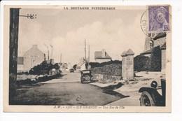 Carte De L' ILE GRANDE Une Rue De L' île  ( Recto Verso ) - Autres Communes