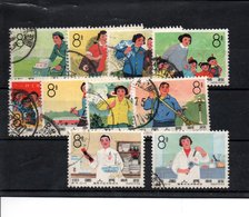 Chine 10 Timbres  Oblitérés - Used Stamps