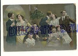 Bonne Année. Famille, Champagne, Couples, Enfants. Gui. 1922 - Nieuwjaar