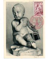 Croix Rouge 1955- Carte Et Timbre Enfant à La Cage-Angers- Voir état - 1950-59