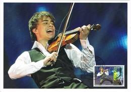 33221. Tarjeta Maxima OSLO (Noruega) Norge 2010. Musik, Alexander RYBAK, Violin - Maximum Cards & Covers