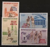 Niger - 1972 - Poste Aérienne PA N°Yv. 199 à 202 - Olympics / Munich 72 - Neuf Luxe ** / MNH / Postfrisch - Verano 1972: Munich
